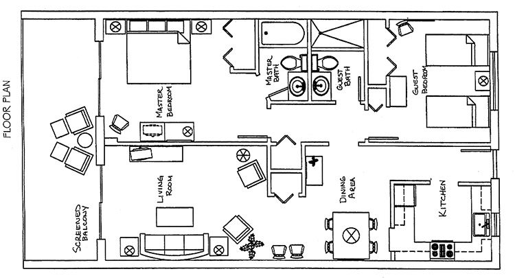 Turtle Reef Club floorplan